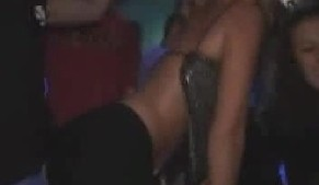 Girls dancing and showing boobs and ass in clubs