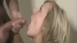 Amateur blonde chick from Denmark swallows
