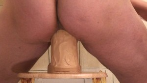 HUGE DILDO ON A CHAIR