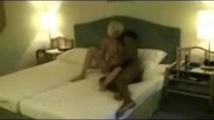 Blonde gets banged by 2 Black Studs