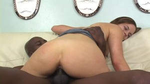 white girl getting her asshole ready for black dick