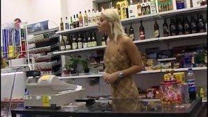 Hot Blond Store Clerk