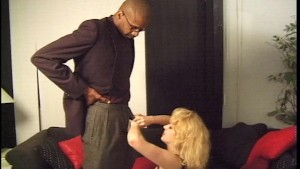 blonde gal gets a mouthful