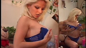 Blonde gets BIG load 1/7