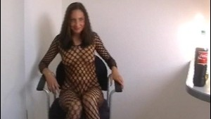 Black fishnet body suit