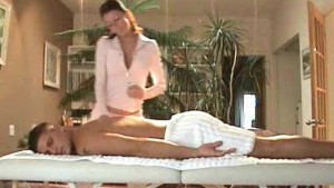 Special massage with Tiffany in tight lingerie