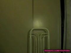 thin latina babe stripping on webcam