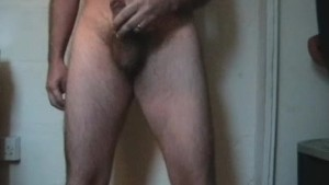 Wank with a feather duster up the ass