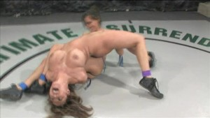 Chicks wrestling, loser gets banged in the ass