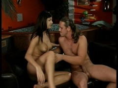 Brunette gets grilled and drilled