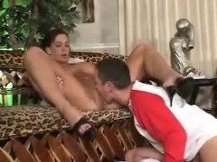 Horny milf with young guy