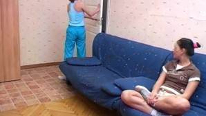 Home lesbian sport training and sex