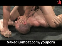 Picture Naked Kombat: fighters engage in real combat