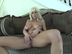 Tanya James Dildos Her Pussy Hole
