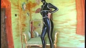 Pornstar Monika fullied dressed in Latex
