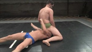 Gay wrestling with happy ending!