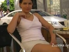 Sexy girl in miniskirt... video