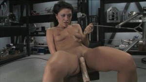 Charolette cumming 3 times on Fucking Machines