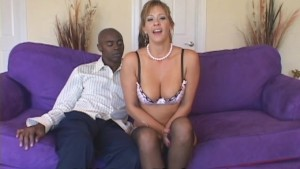Naughty cheating wife loves black cock when husband is not at home