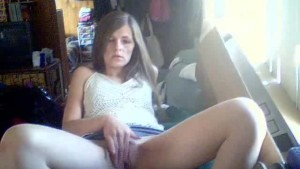 horny milf masturbating watching porn