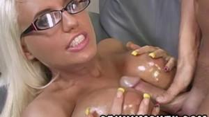 Big Boob Blonde Jacky Joy gets Cum in Motuh