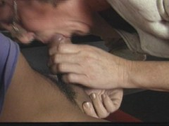 Secretary ass takes in pony tailed guy's cum