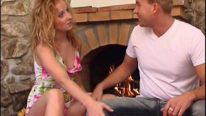 Lovemaking In Front of the Fireplace