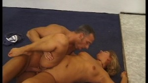 She kicks her leg high reveals her cock-pit