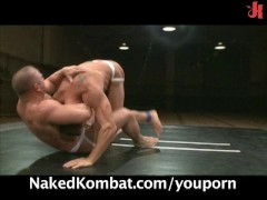 Muscle studs wrestle, suck and fuck!