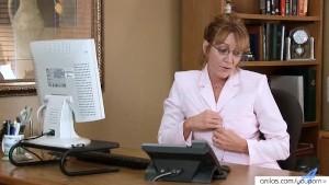 Classy Mature Office Phonesex Masturbation