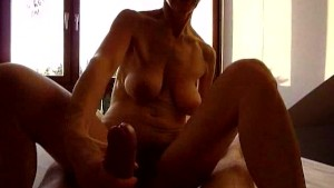 Mature redhead blows and fucks in POV