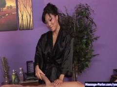 Sexy Japenese gives a sensual massage p.1