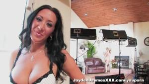 Jayden Jaymes & Sara Sloane fight over dick