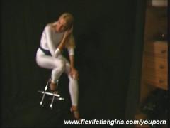 Picture Flexi Jodi in white spandex