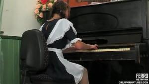 Lesbian MILF piano lessons