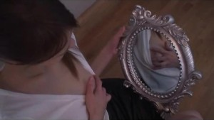 mirror and caresses for a hot gf