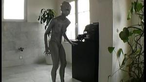 Bizarre transformation into a alien