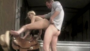 Blonde Getting Fucked Outdoors