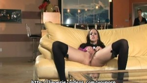 Deja Daire fucking in stockings