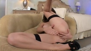 Bobbi Starr in seamed stockings