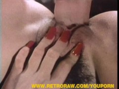 Sexy retro housewives sharing a huge dick