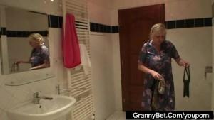 Big tits granny fucked hard