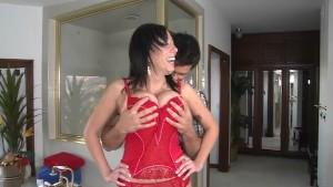 Alia Janine gets her tits glazed by Ramon