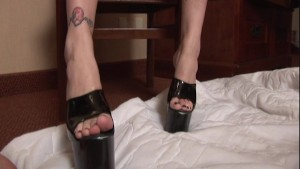 Sailor's 7 inch heels goes against his 6 inch dick