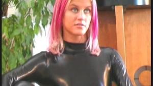 Cynthia in spandex latex