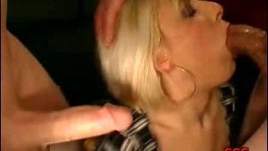 18-yr-old German girl gets a mouthful of jizz
