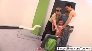 Banged Boys. 4 Dudes in Action.