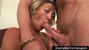 Mature shy cleaning woman fucked by younger