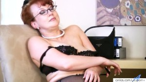 Horny Redhead Milf Solo Masturbation with Toy