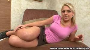 pretty blonde girl gets rammed
